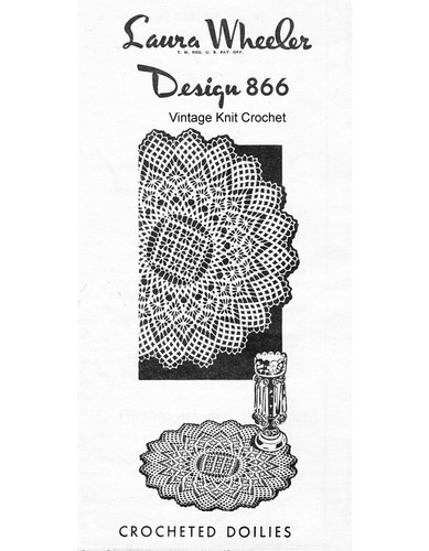 Petal Stitch Crochet Doily pattern, Laura Wheeler 866