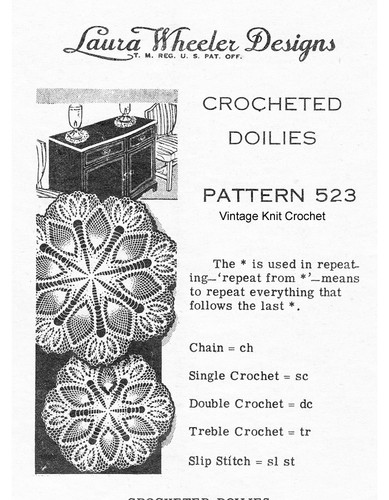 Mail Order Crochet Pineapple Doilies Design 523