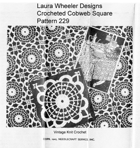 Crochet Cobweb Tablecloth Pattern, Mail Order 229