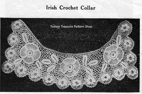 Irish Rose Crochet Collar Pattern