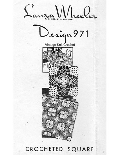 Crochet Pineapple Tablecloth Pattern, Mail Order Design 971
