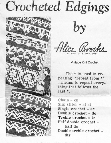 Mail Order Crochet Edgings Pattern, Design 7285