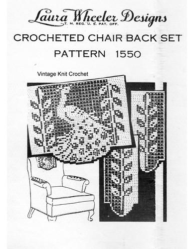 Peacock Filet Crochet Pattern, Vintage Laura Wheeler 1550