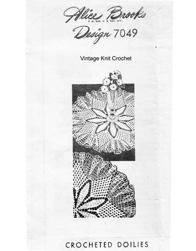 large ruffled crochet doily pattern Design 7049