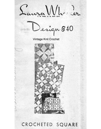 Double Star Crochet Cloth Pattern, Mail Order Design 840