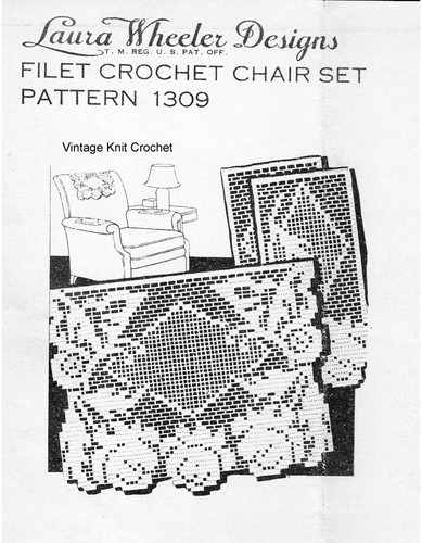 Butterfly Filet Crochet Pattern, Laura Wheeler 1309