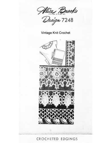 Edgings Insertion patterns in Irish Crochet, Mail Order 7248