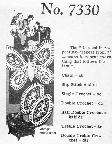 Crochet Butterfly Doily Pattern, Alice Brooks 7330