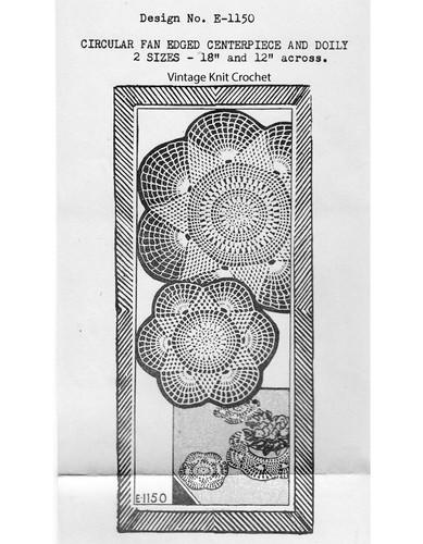Mail Order Crochet Star Doily Pattern, Ellen Bruce E-1150