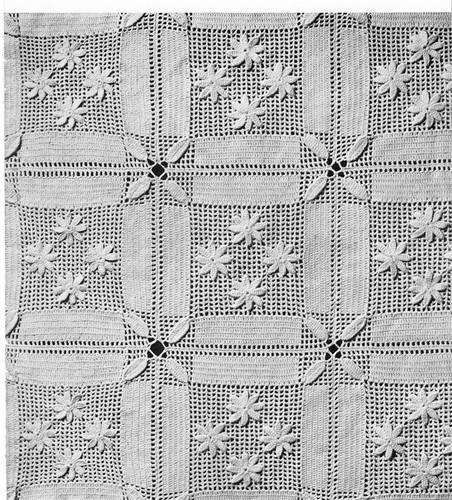 Daisy Bedspread Crochet Pattern,