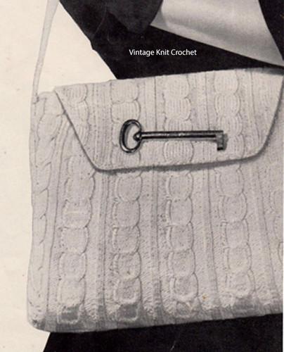 Vintage Cable Bag Knitting Pattern