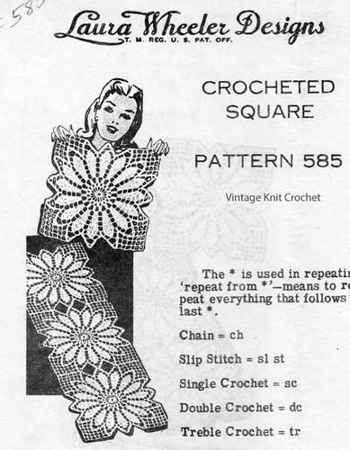 Sunflower Square Crochet Pattern, Design 585