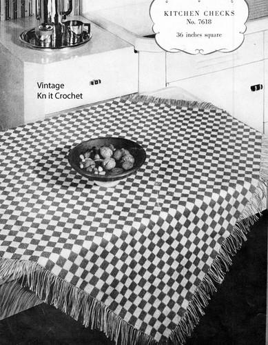 Checkerboard Crochet Cloth Pattern No 7618