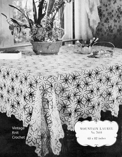Laurel Medallion Crochet Tablecloth Pattern No 7644