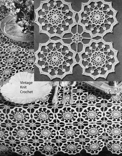 Crochet Grand Manner Tablecloth Pattern