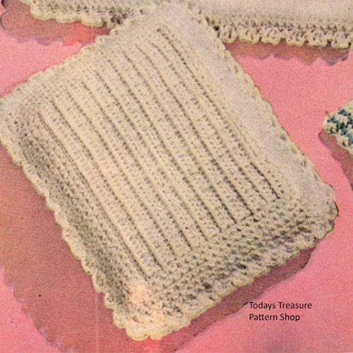 Vintage Crochet Baby Pillow Pattern