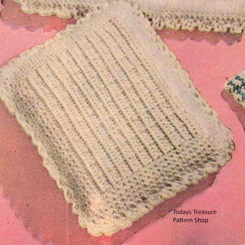 Vintage Crochet Baby Pillow Pattern