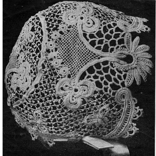 Vintage Crochet Lace Baby Hat Pattern