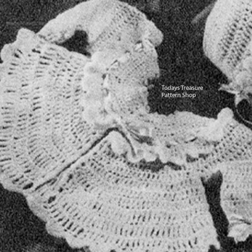 Crochet Baby Girl Jacket Pattern, loop stitch with  ruffled collar