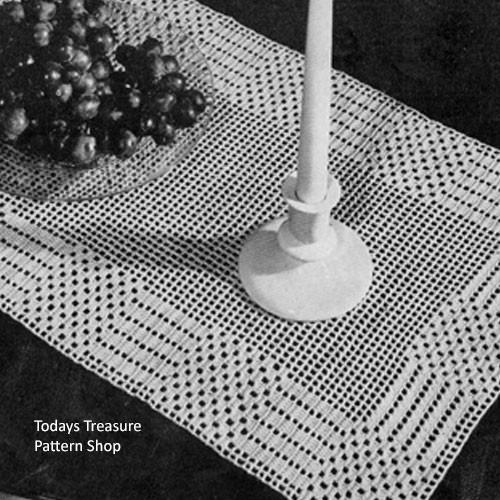 Free Filet Crocheted Runner Pattern