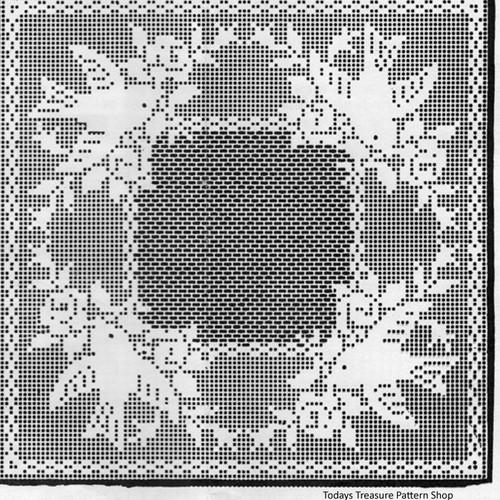 Mail Order Filet Crocheted Bluebirds Pattern