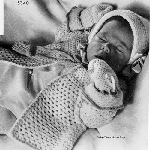 Boys Crocheted Baby Set Pattern