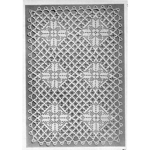 Diamond Filet Crocheted Cloth Pattern No