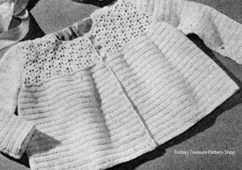 Pretty Crochet Baby Girl Jacket Pattern