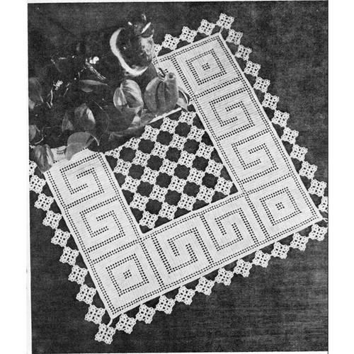 Vintage Flowers n Filet Doily Pattern