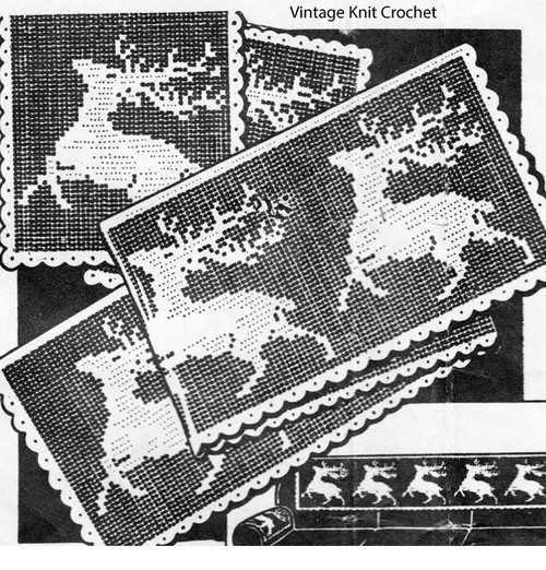 File Crochet Running Bucks, Peggy Roberts R-2781