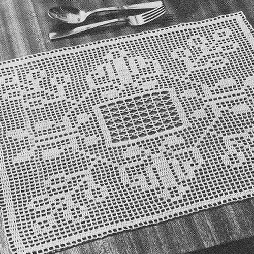 Filet Crocheted Place Mats Pattern