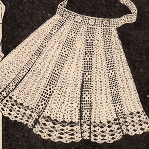 Workbasket Filet Crochet Apron Pattern