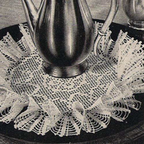 Large Ruffled Filet Crochet Doily pattern