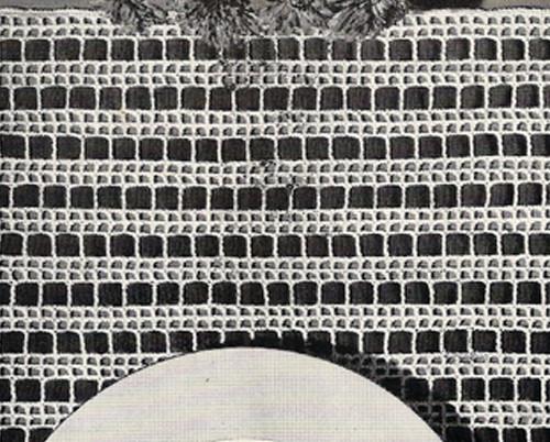 Filet Crocheted Ribbon Place Mats Pattern