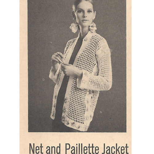 Bangle Filet Crocheted Jacket Pattern