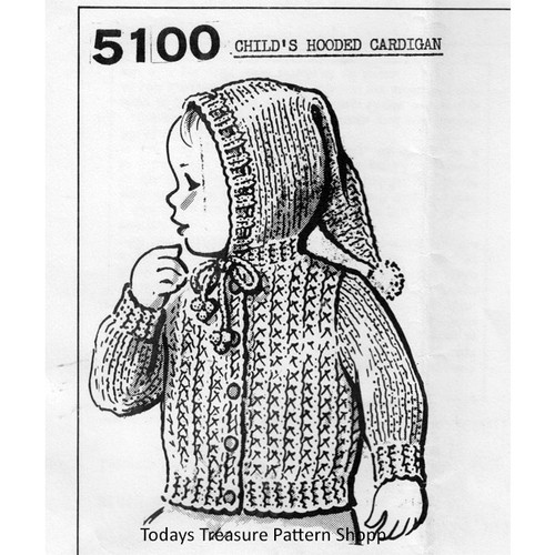 Anne Cabots 5100, Baby Knitted Jacket Pattern