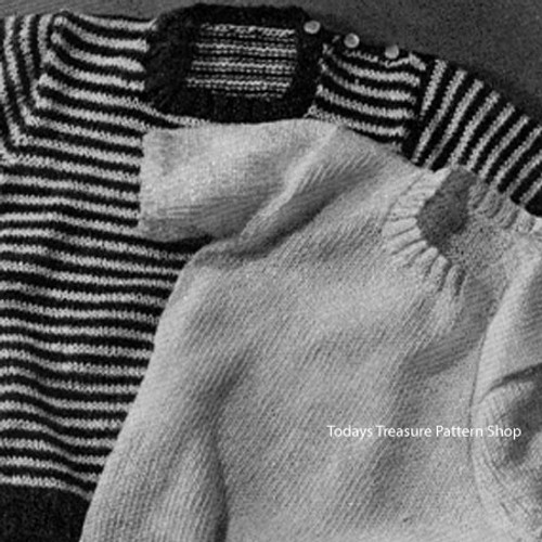 Vintage Toddler Pullover Knitting Pattern