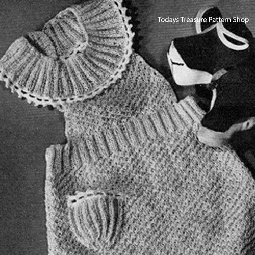 Toddler Knitted Rompers Pattern