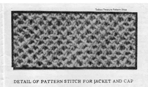 Knitted Baby Jacket Pattern Stitch