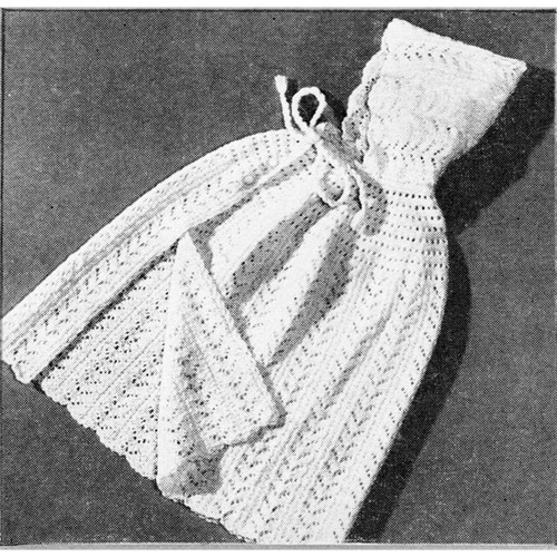 Baby Hooded Cape Knitting Pattern