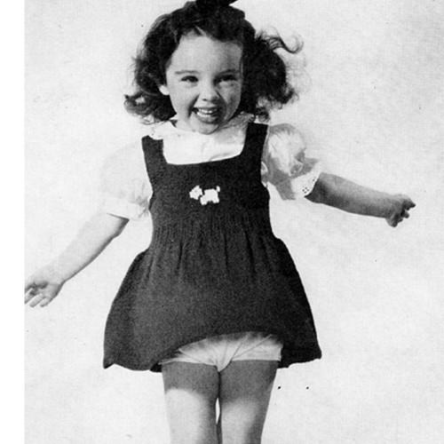 Knitting Pattern, Toddlers Jumper Dress