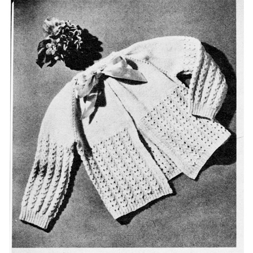 Lacy Knit Baby Sacque Patter