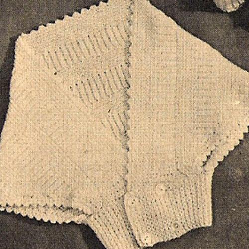 Knitted Baby Shrug Jacket Pattern