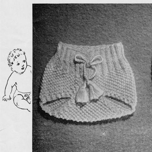 Vintage Knit Soakers Pattern