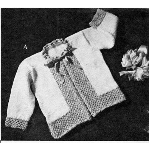 Childs Honeycomb Border Jacket Knitting Pattern