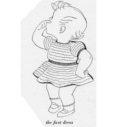 Illustration of Baby Dress Knitting Pattern