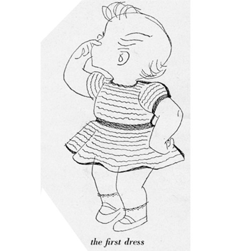 Illustration of Baby Dress Knitting Pattern