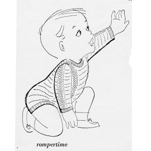 Cable Baby Knitted Suit Illustration