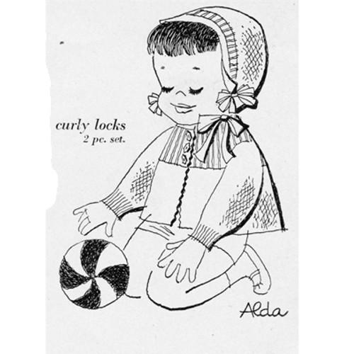 Baby Girl Knitted Set Pattern Illustration