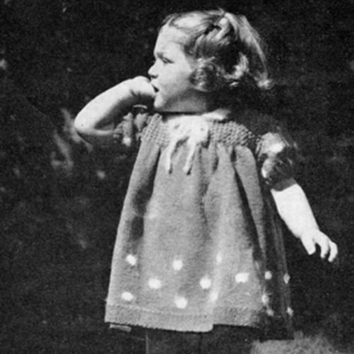 Childs Vintage Party Dress Pattern